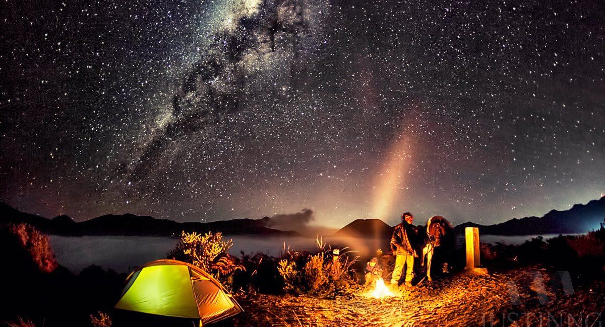 Campfire at Mount Bromo